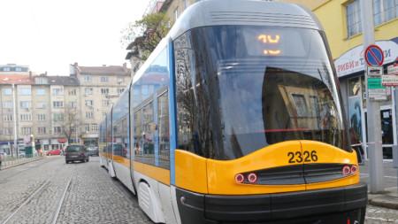 """С 13 нови трамвая PESA се сдоби София. Мотрисите са закупени по ОП """"Региони в растеж"""" 2014-2020 година."""