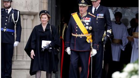 Кралят на Норвегия Харалд Пети със съпругата си кралица София