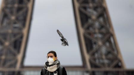 Край Айфеловата кула - Париж, 14 март 2020г.