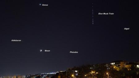 Старлинк, Варна, спътници  Емил Иванов, астроном
