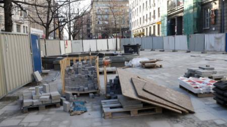 Ремонт на площад Славейков