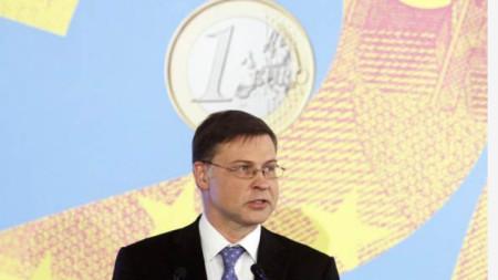 Валдис Домбровскис - зам.-председател на Европейската комисия и комисар за еврото и социалния диалог