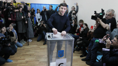Новоизбраният президент на Украйна Володимир Зеленски
