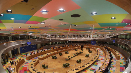 Залата за срещата на върха на ЕС в Брюксел, 10 декември 2020 г.
