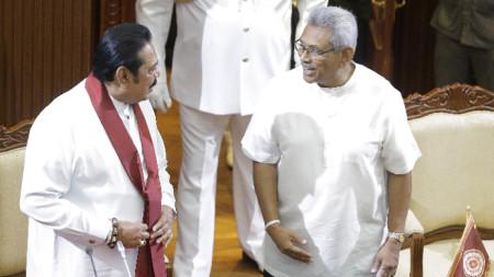 Махинда и Готабая Раджапакса