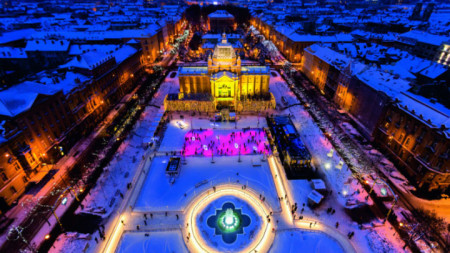 Леденият парк на площад