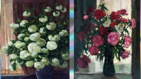 Две от платната на Елисавета Консулова-Вазова