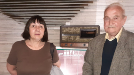 Димитър Николов и неговата спътница в радио, и в живота – Боряна Желева