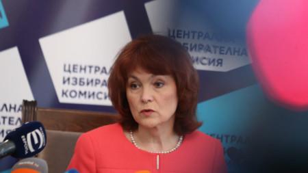 Говорителят на ЦИК Росица Матева
