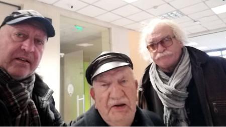 Емил Янев, Джони Пенков и Андрей Чертов (отляво надясно)