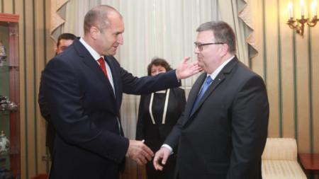 Presidenti Radev dhe Kryeprokurori Cacarov
