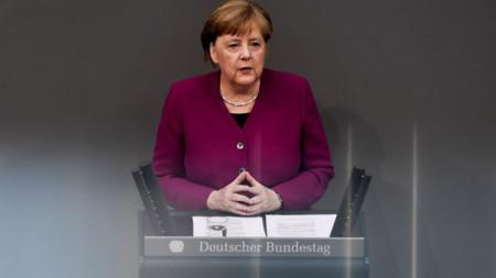 Канцлерът Ангела Меркел обяви пред Бундестага позицията на Германия за преговорите между лидерите на ЕС за икономическото възстановяване от пандемията.