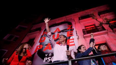 Лидерът на испанските социалисти и премиер на Испания Педро Санчес.