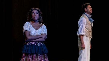 """Сцена от операта """"Момичета от Златния Запад"""""""