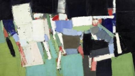 """Картината """"Парк де Пренс"""" на френския художник с руски произход Никола дьо Стал."""