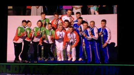 Три медала за българските състезатели от ЕП по аеробика в Баку