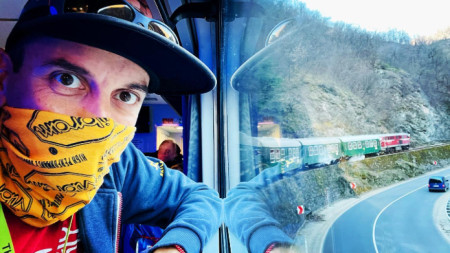 Ogy Kovachev on his way to Yakaruda