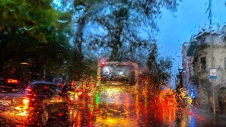 Дъждовно в Пловдив