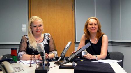 """Анелия Торошанова и проф. Ирена Илиева (вдясно) в студиото на програма """"Христо Ботев"""""""