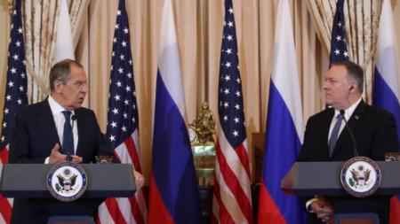 Пресконференция на Сергей Лавров и Майк Помпейо след срещата им във Вашингтон