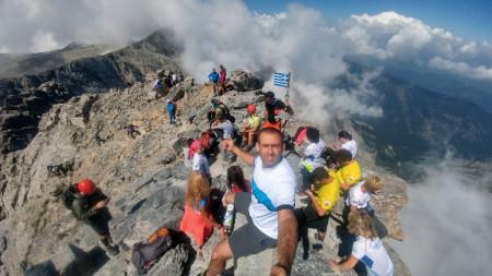 Селфи от Митикас (2917 m)-  най-високият връх на планината Олимп в Гърция и втори по височина връх на Балканския полуостров след Мусала, България.