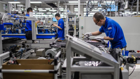 Фабрика на германската компания за авточасти Webasto в китайския град Ухан