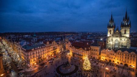 Изглед към Прага, 28 ноември 2020 г.
