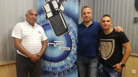 Методи Асенов, Виктор Кирков и Асен Трайков в студиото на