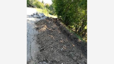 В Горна Ковачица изграждат отводнителни канали
