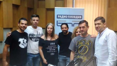 Рони Ромеро и д-р Милен Врабевски в студиото на Радио Пловдив