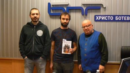 Благой Иванов, Слави Ганев и Румен Леонидов (отляво надясно)
