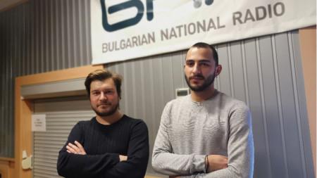 Милен Максимов и Алекс Атанасов в студиото