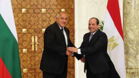 Bojko Borissow und Abd al-Fattah as-Sisi