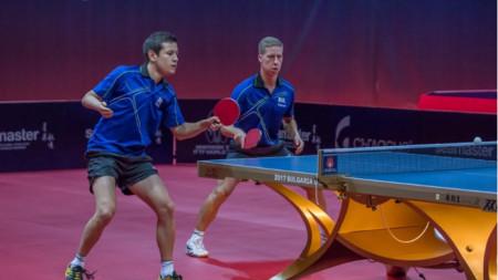 Денислав Коджабашев (вляво) и Теодор Александров загубиха на четвъртфиналите.