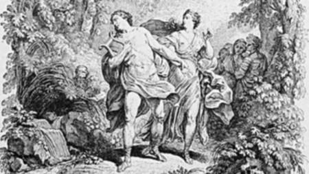 """Заглавната страница на операта """"Орфей Евридика"""" от Глук"""