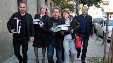 """На 5-и ноември в СГС беше внесена регистрация за партията на Слави Трифонов """"Няма такава държава""""."""