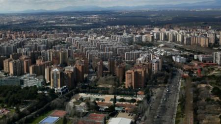 Изглед към Мадрид