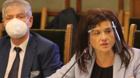 На заседанието на Комисията по здравеопазването по проекта за изменение и допълнение на Закона за здравето, внесен от Даниела Дариткова, 18 ноември 2020 г.