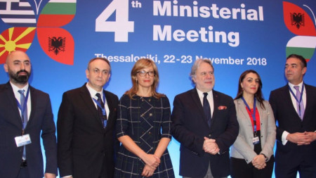 Четвъртата четиристранна министерска среща на Албания, България, Гърция и Македония в Солун.