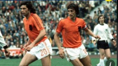 Сурбиер (вляво) и Кройф по време на финала на световното първенство през 1994 г.