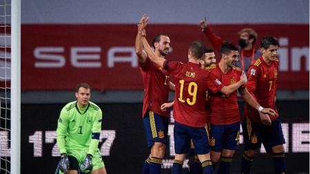 Германия допусна разгром с 0:6 от Испания на 17 ноември.