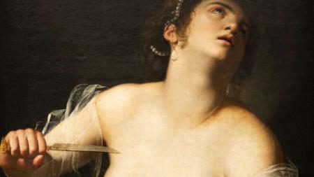 """Детайл от картината """"Лукреция"""" на Артемизия Джентилески (1593-1656)"""