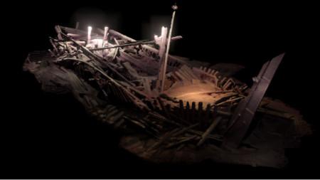 Останки от ветроходен кораб от Османската епоха (XVIII в.), лежащи на дълбочина 301 м пред Южното Черноморие