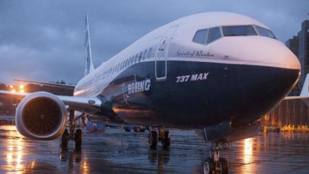 Самолет 737 MAX на компанията Boeing