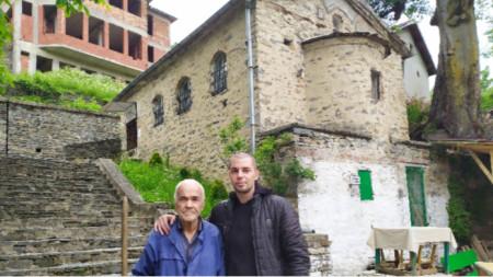 Поколенията на дедево - Борис Папазов и внука Валентин