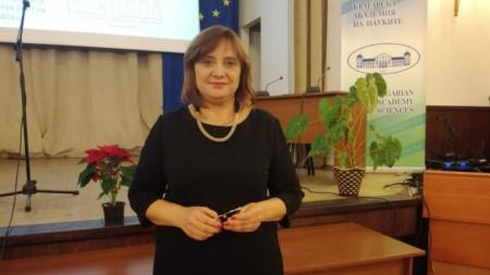 Професор Светлозара Петкова - директор на Института по експериментална морфология, патология и антропология.