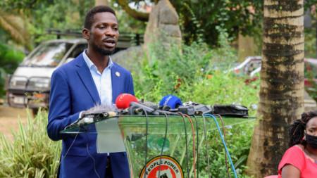 Опозиционният кандидат за президент на Уганда Боби Уейн