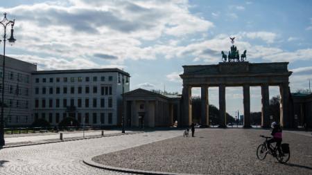 Край Брандербургската врата на 2 април 2020 г.