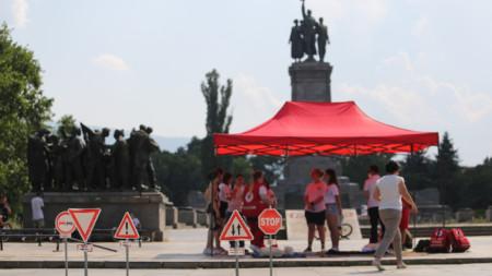 Столичната организация на Българския Червен кръст организира кампанията в София.