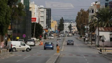 Изглед към район на Никозия под контрола на кипърските турци.